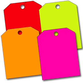 13 Pt. Shipping Tags Fluorescent