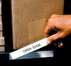 Open-Edge Plastic Label Holders
