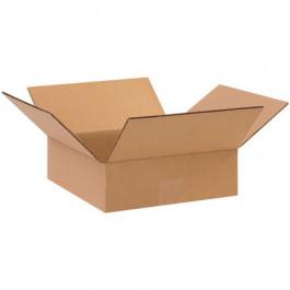 "10"" x 10"" x 3"" Flat Corrugated Boxes"