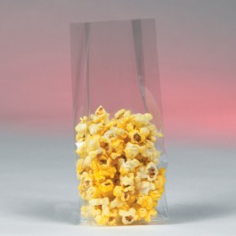 """3"""" x 1 3/4"""" x 8 1/4"""" - 1.5  Mil Gusseted  Polypropylene  Poly  Bags"""