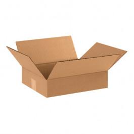 "12"" x 10"" x 3"" Flat Corrugated Boxes"