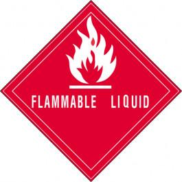 """4"""" x 4"""" - """" Flammable  Liquid""""  Labels"""