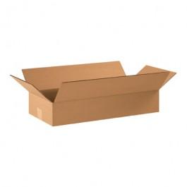 "22"" x 10"" x 4"" Flat Corrugated Boxes"