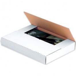 "10 1/4"" x 10 1/4"" x 1"" White Corrugated Bookfolds"