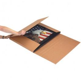 "24"" x 20 x 6"" Kraft Jumbo Corrugated Bookfolds"