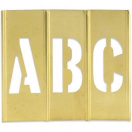 "3""  Letter/ Number  Brass  Stencils"