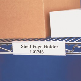 "3"" x 1 5/16  Angled  Wire- Rac™  Snap- On  Label  Holders"