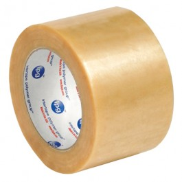 "3"" x 110 yds.  Clear (6  Pack)2.2  Mil PVC  Natural  Rubber  Tape"