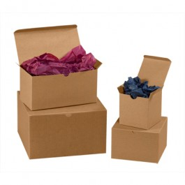 "7"" x 7"" x 7"" Kraft Gift Boxes"