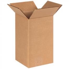 6 x 6 x 4  Corrugated Box  W5C