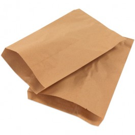"12"" x 15""  Kraft Flat  Merchandise  Bags"