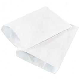 "15"" x 18""  White Flat  Merchandise  Bags"