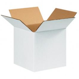 "9"" x 9"" x 9"" White  Corrugated  Boxes"