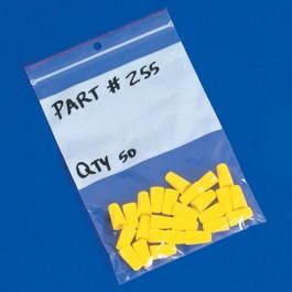"3"" x 5"" - 4  Mil Minigrip®  White  Block  Reclosable  Poly  Bags w/  Hang  Holes"