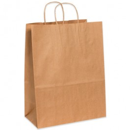 "13"" x 7"" x 17""  Kraft Paper  Shopping  Bags"