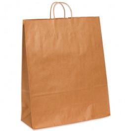 "16"" x 6"" x 19 1/4""  Kraft Paper  Shopping  Bags"