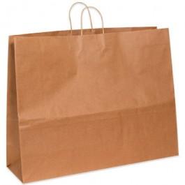 "24"" x 7 1/4"" x 18 3/4""  Kraft Paper  Shopping  Bags"