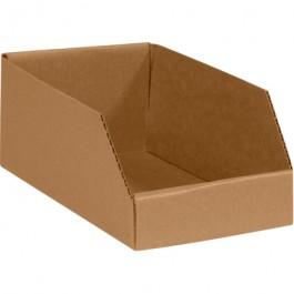 """6"""" x 24"""" x 4 1/2""""  Kraft Open  Top  Bin  Boxes"""