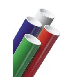 """2"""" x 36"""" Red Mailing Tubes with Caps"""