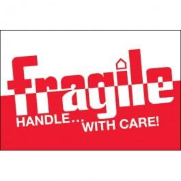 """2"""" x 3"""" - """" Fragile -  Handle  With  Care""""  Labels"""