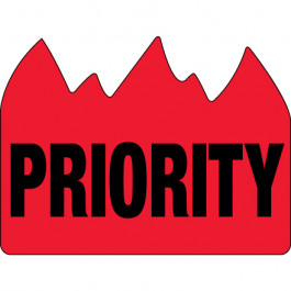 """1 1/2"""" x 2"""" - """" Priority"""" ( Bill of  Lading)  Flame  Labels"""