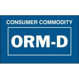 "1 3/8"" x 2 1/4"" - "" Consumer  CommodityORM-D""  Labels"