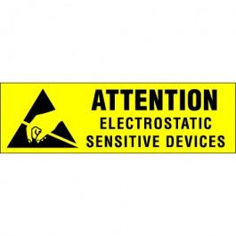 """3/8"""" x 1 1/4"""" - """" Electrostatic  Sensitive  Devices""""  Labels"""