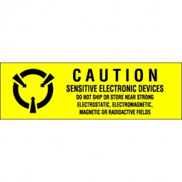 "5/8"" x 2"" - "" Sensitive  Electronic  Devices""  Labels"