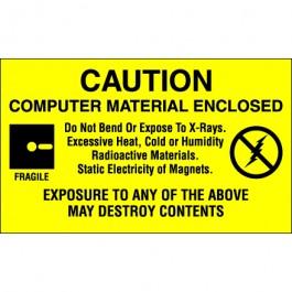 "3"" x 5"" - "" Computer  Material  Enclosed""  Labels"