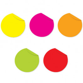 """1""""  Fluorescent  Packs Inventory  Circles"""