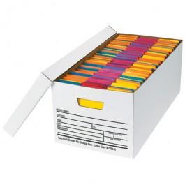 """24"""" x 12"""" x 10"""" Auto-Lock Bottom File Storage Boxes"""