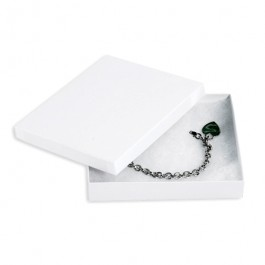 "6"" x 5"" x 1"" White Jewelry Boxes"
