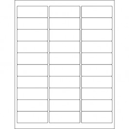 """2 5/8"""" x 1""""  Glossy  White Rectangle  Laser  Labels"""