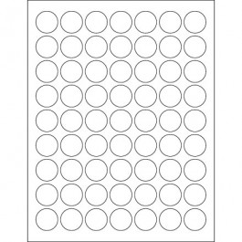 """1""""  Glossy  White Circle  Laser  Labels"""