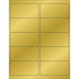 """4"""" x 2""""  Gold  Foil Rectangle  Laser  Labels"""