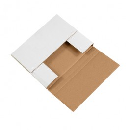 "10 1/4"" x 8 1/4"" x 1 1/4"" White Corrugated Bookfolds"