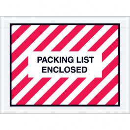 """4 1/2"""" x 6""""  Red ( Striped)"""" Packing  List  Enclosed""""  Envelopes"""