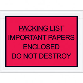 """4 1/2"""" x 6""""  Red"""" Important  Papers  Enclosed""""  Envelopes"""
