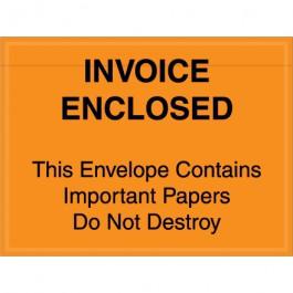 "4 1/2"" x 6""  Orange"" Important  Papers  Enclosed""  Envelopes"