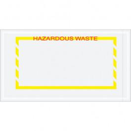"""5 1/2"""" x 10""""  Yellow  Border"""" Hazardous  Waste""""  Document  Envelopes"""