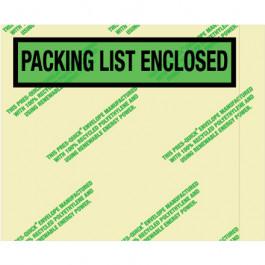"4 1/2"" x 5 1/2""  Environmental"" Packing  List  Enclosed""  Envelopes"