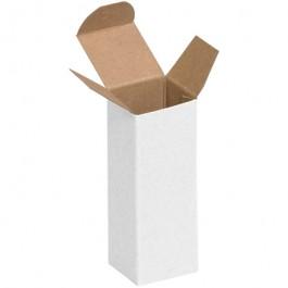"1 1/2"" x 1 1/2"" x 4""  White Reverse  Tuck  Folding  Cartons"