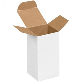 "2"" x 2"" x 4""  White Reverse  Tuck  Folding  Cartons"