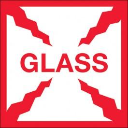 "4"" x 4"" - "" Glass""  Labels"