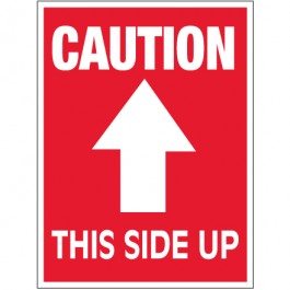 """3"""" x 4"""" - """" Caution -  This  Side  Up""""  Arrow  Labels"""