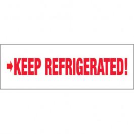 "2"" x 110 yds. - "" Keep  Refrigerated"" Pre- Printed  Carton  Sealing  Tape"