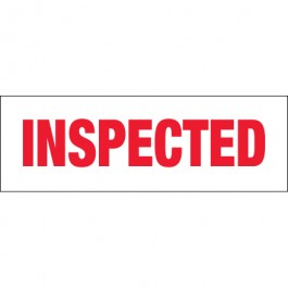 "2"" x 110 yds. - "" Inspected"" Pre- Printed  Carton  Sealing  Tape"