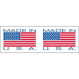 "2"" x 110 yds. - "" Made in USA"" Pre- Printed  Carton  Sealing  Tape"