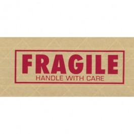 """3"""" x 450' - """" Fragile"""" Central™ 260  Pre- Printed  Reinforced  Tape"""