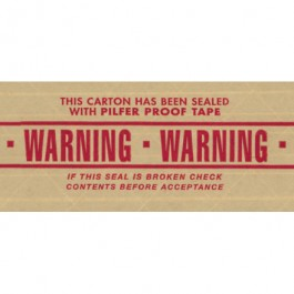 "3"" x 450' - "" Warning"" Central™ 260  Pre- Printed  Reinforced  Tape"